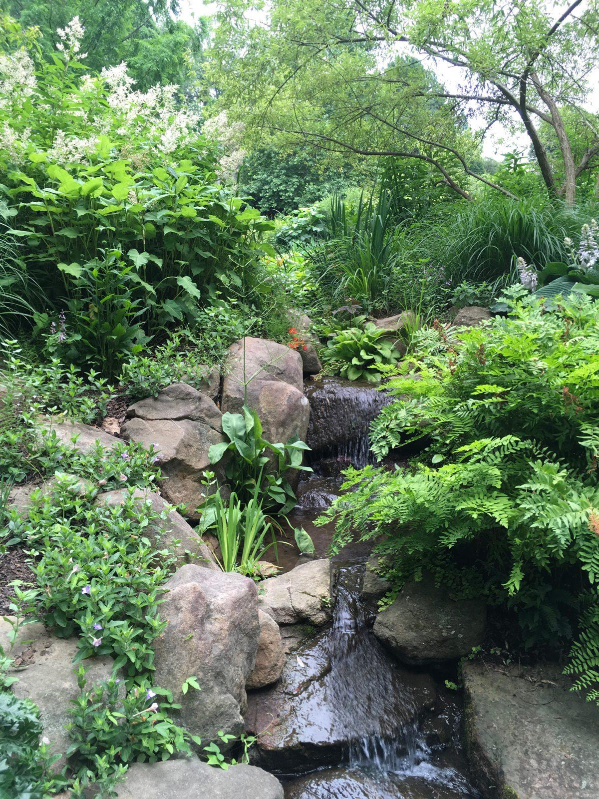 pond-waterfall-chanticleer-wayne-pa-main-line-landscape-designer
