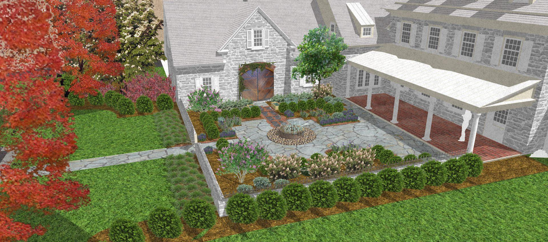 front-yard-garden-design-cottage-garden-concept-drawing-kennett-square-pa