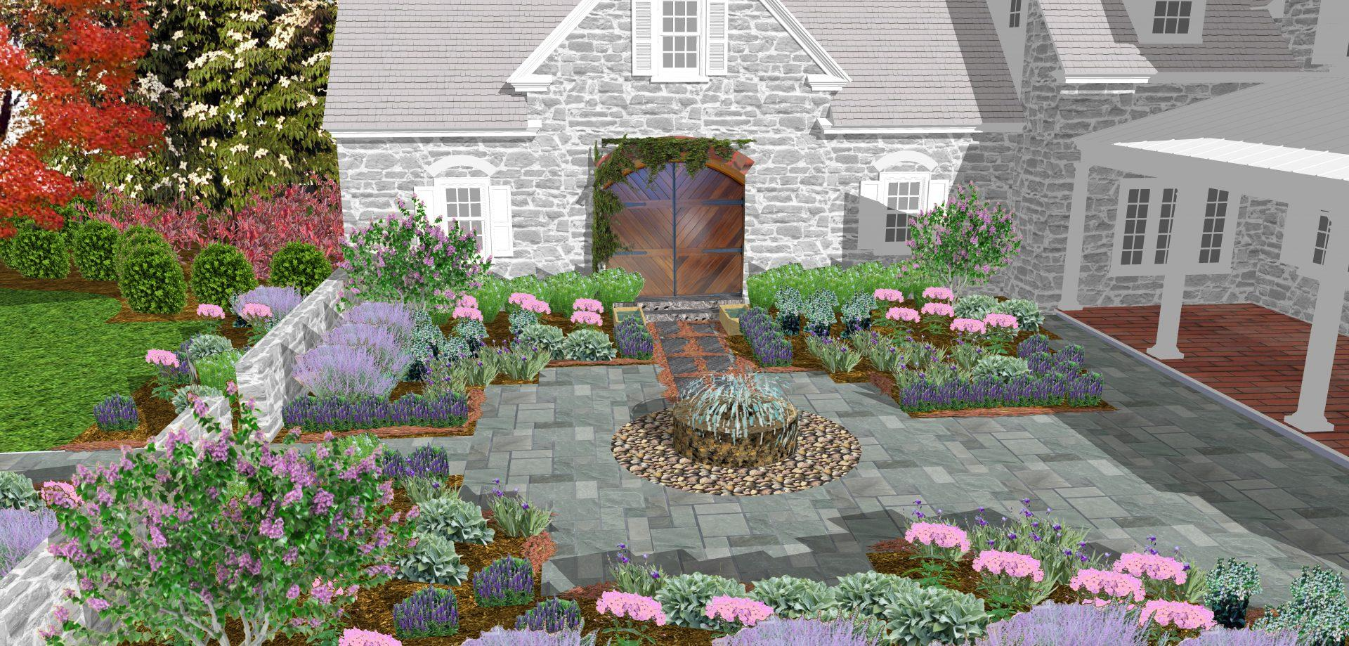 fountain-design-drawing-millstone-courtyard-kennett-square-pa