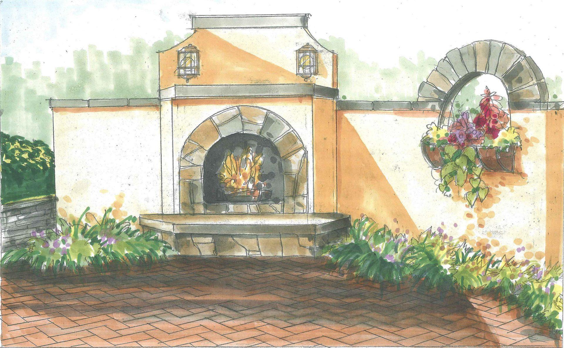 drawing-design-concept-mediterranean-fireplace-courtyard-design-malvern-pa